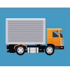 Delivery concept truck transport blue background vector