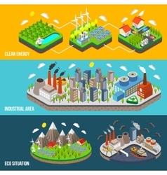 Eco Horizontal Banner vector image vector image