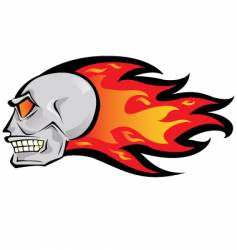 fire skull vector image vector image