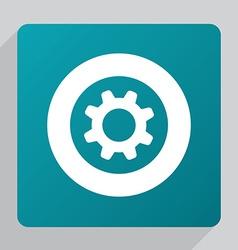 flat settings icon vector image