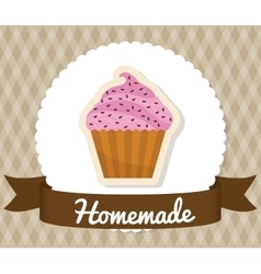 Homemade dessert recipe vector