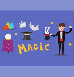 magician prestidigitator character vector image vector image