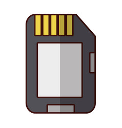 microsd flash memory vector image vector image