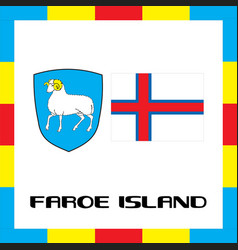 Official government ensigns of faroe island vector