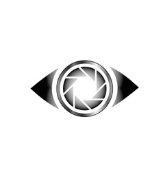 Photography eye logo vector image vector image