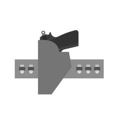 Pistol holster vector