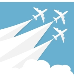 Poster with airplanes vector