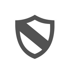 Protection shield icon on a white background vector