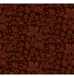 Romantic seamless floral pattern vector image