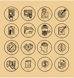 Set of 600 universal modern thin line icons for vector image