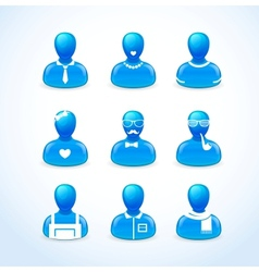 set of humans icons vector image