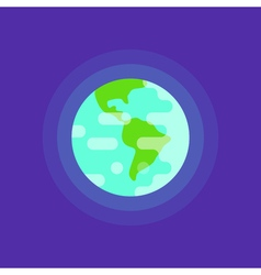 simple flat style of planet Earth vector image