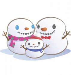 snow family vector image