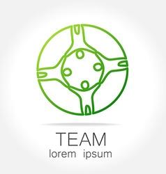 team unity logo vector image vector image