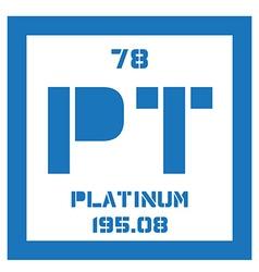 Platinum chemical element vector