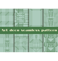 Art deco seamless patterns vector