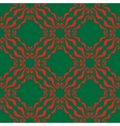 Seamless abstract red green pattern vector image