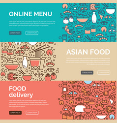 Asian food templates vector