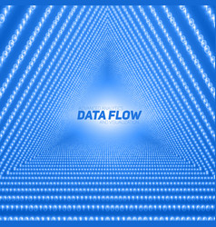 Data flow visualization triangle vector