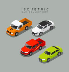 Isometric car collections vector