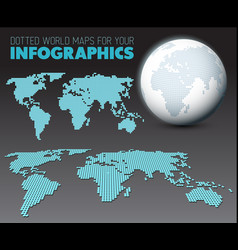 World map and globe for your infographics vector