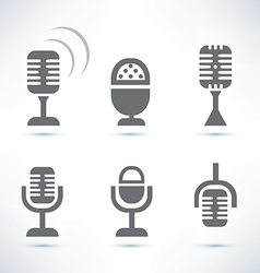 Microphones set vector