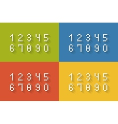 Set of flat pixel numbers vector