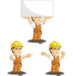 Industrial construction worker mascot 8 vector
