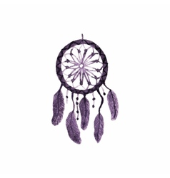 Dreamcatcher feathers and beads simple vector