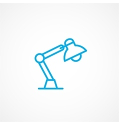 Reading lamp icon vector
