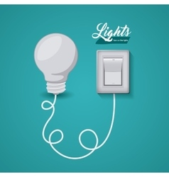 Light switch design vector