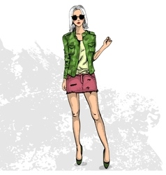 Trendy color look vector