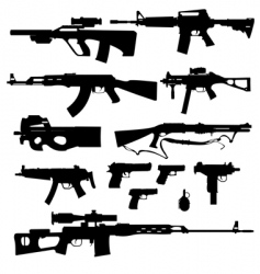 firearms vector image