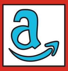 Amazon online shop smile store icon concept vector
