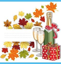 Autumn holiday vector image