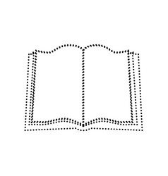 Book sign black dotted icon on white vector