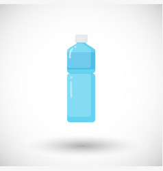 Bottle of water flat icon vector