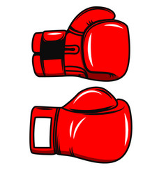 Boxing gloves isolated on white background design vector