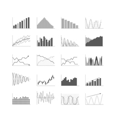 Business data graph analytics vector image vector image
