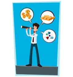 businessman observing vector image
