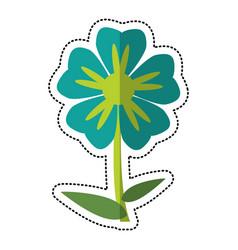 Cartoon geranium flower natural vector