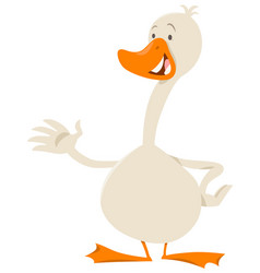 Cute goose bird animal character vector