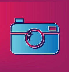 digital photo camera sign blue 3d printed vector image vector image
