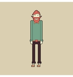 Flat character stylish bearded hipster vector