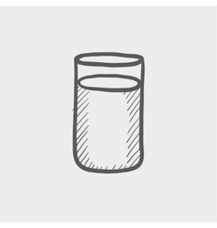 Glass of soda sketch icon vector