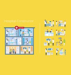 hospital constructor scheme vector image vector image