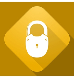 icon of Padlock with a long shadow vector image vector image