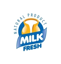 Logo milk vector