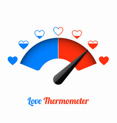 Love thermometer valentines day card design vector