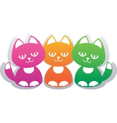 paper cats vector image